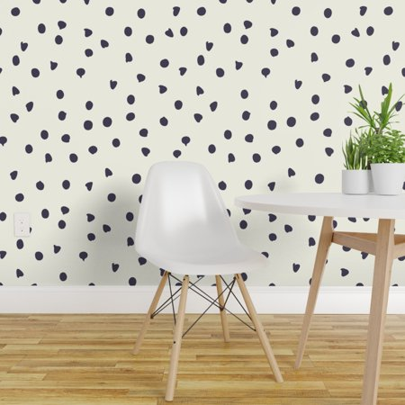 Wallpaper Roll Polka Dot Dots Black And White Trendy 24in x