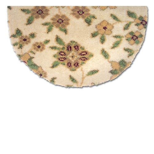 Goods Of The Woods 10902F Garden Floral Pattern Half Round Rugs