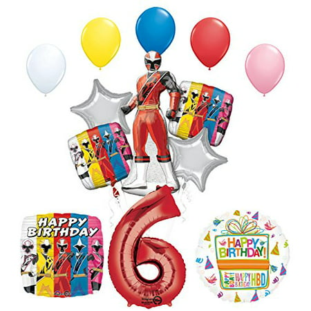 The Ultimate Power Rangers Ninja Steel 6th Birthday Party Supplies - Birthday Party Stores