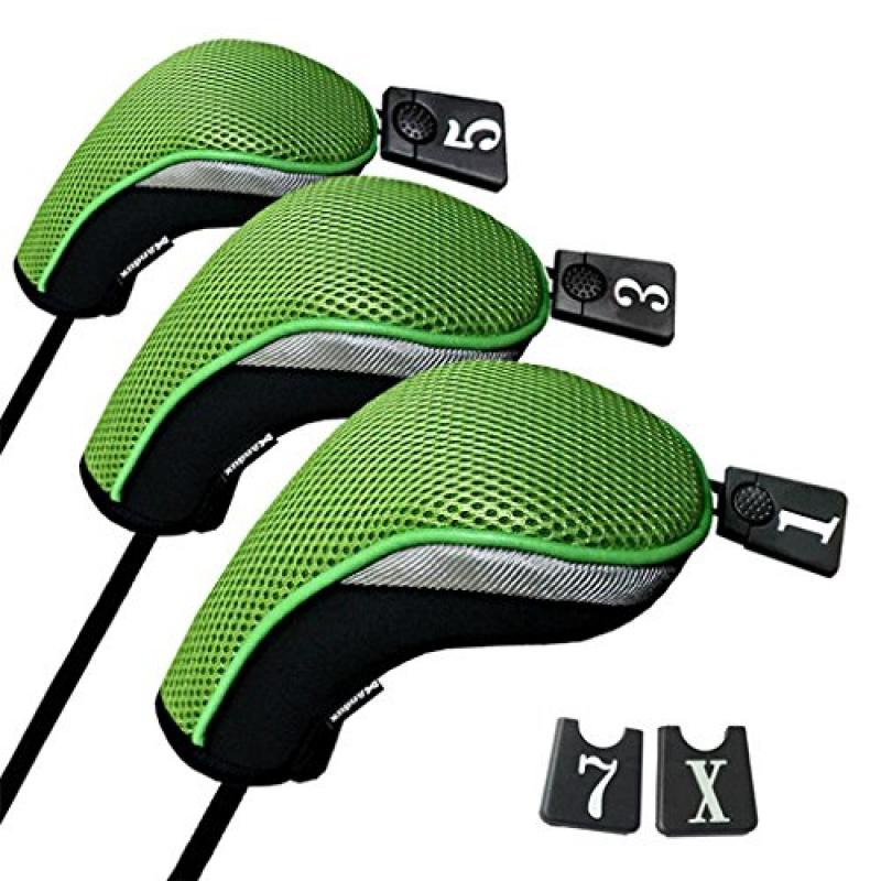 Andux Golf 440cc Driver Wood Head Covers with Interchange...