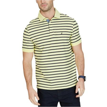 Nautica Mens Striped Rugby Polo Shirt