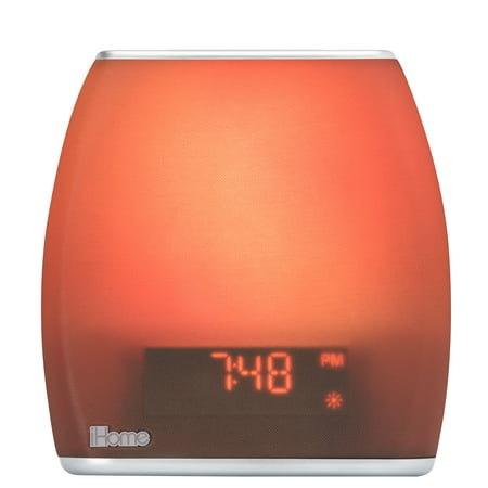 Light Therapy Sound Machine (iHome Zenergy Bedside Sleep Therapy Machine Sleep Better, Easier & Longer, Zen Light & Sound Therapy Machine, Calming, Soothing Sounds, Soft Lighting, Bluetooth Audio, White Noise)