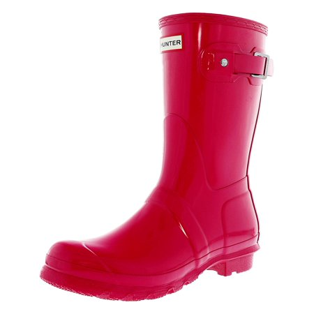 Hunter Original Short Rain Boot - 10M - Gloss Bright Pink