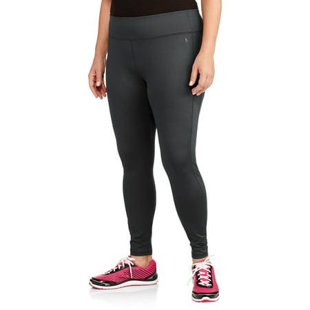 Danskin Stretch Tights (Women's Plus-Size Ankle-Length Poly Sport)