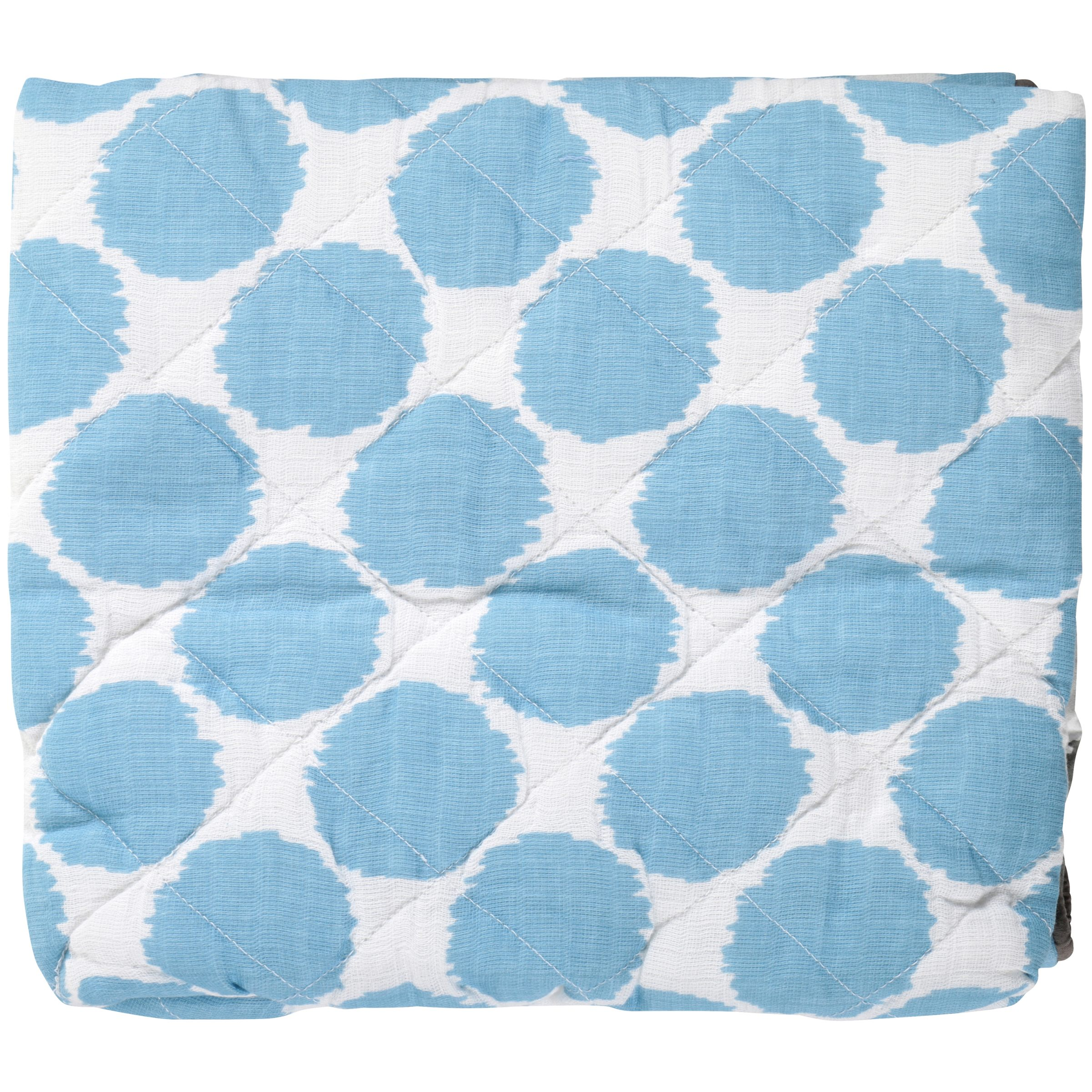 Bacati Grey Zigzag Blue Dots Changing Pad Cover