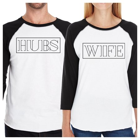 365 Printing Hubs And Wife S Matching Baseball Shirts Cute Wedding Gifts