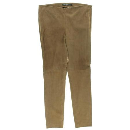 b8a0905fadfa6 Lauren Ralph Lauren - Lauren Ralph Lauren Womens Suede Skinny Leg Casual  Pants - Walmart.com
