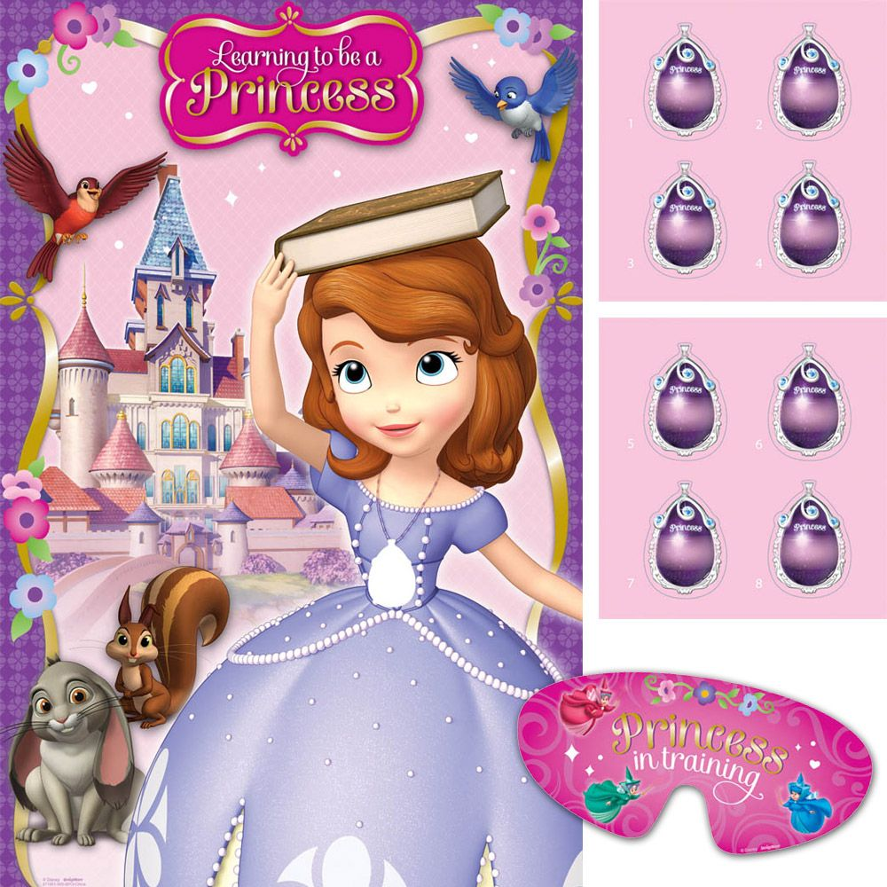 Sofia The First Party Game (Each) - Party Supplies
