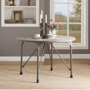 ACME Jonquil Round Dining Table in Gray Oak and Sandy Gray
