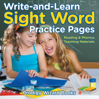 Write-And-Learn Sight Word Practice Pages Reading & Phonics Teaching