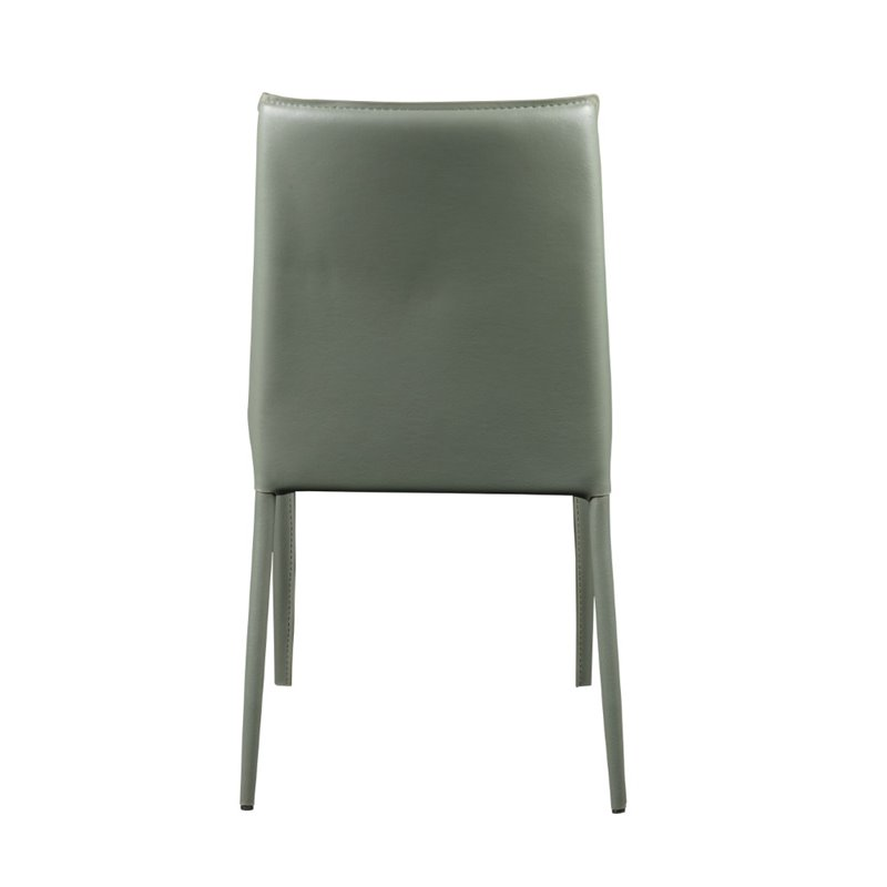 Eurostyle Alder Stacking Side Chair in Green (Set of 4) - image 3 de 6