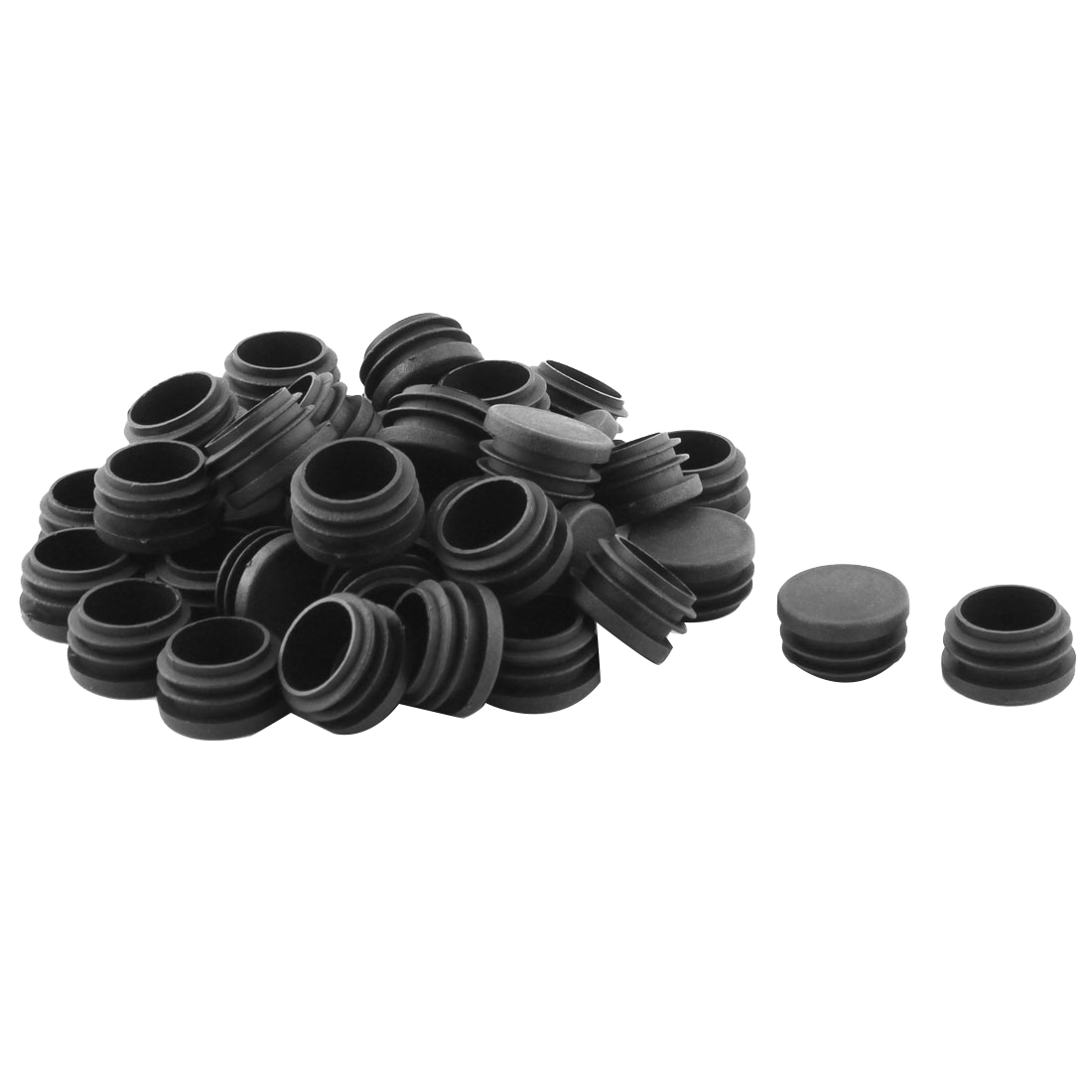Desk Chair Feet Round Shaped Tube Pipe Inserts End Caps Covers 40 PCS - image 2 of 2