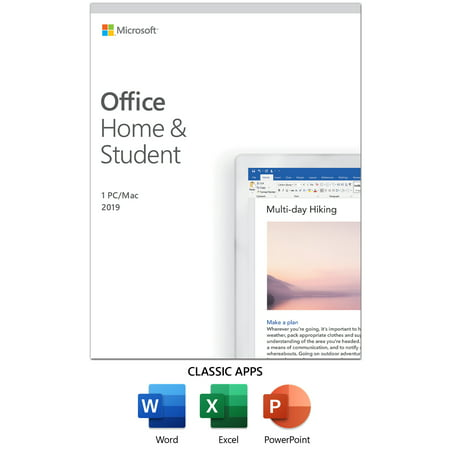 Microsoft Office Home and Student 2019 | 1 device, Windows 10 PC/Mac Key