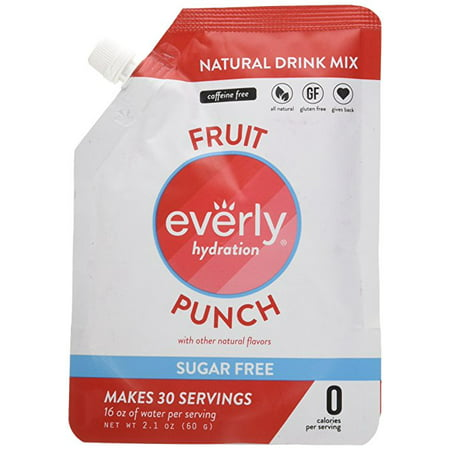 Everly, Hydration Powdered Drink Mix, Fruit Punch, 30 Servings