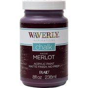 Waverly Inspirations 8 Fl. Oz. Merlot Chalk Paint