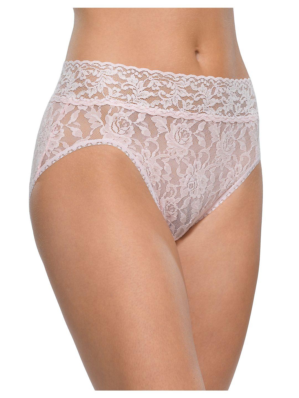 Hanky Panky 461 Signature Lace French Bikini Panties (Bliss Pink XL)