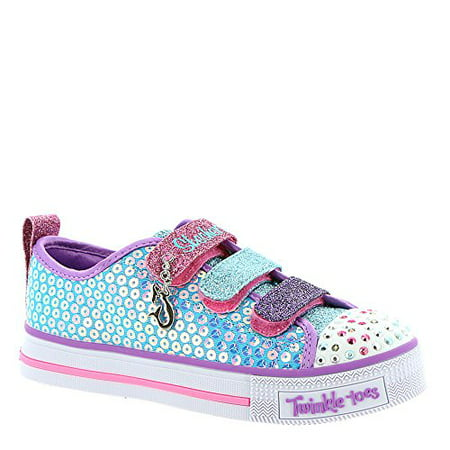 - Skechers Kids Girls' Twinkle Lite-Mermaid Magic Sneaker, Turquoise/Multi, 11 Medium US Little Kid