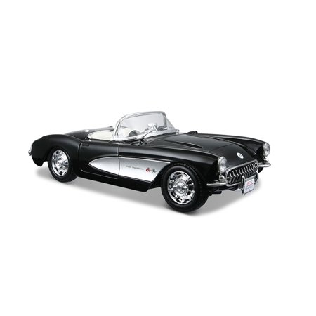 1:24 Scale 1957 Chevrolet Corvette Diecast Vehicle (Colors May Vary), Scaled replicas of cars and trucks By Maisto Ship from
