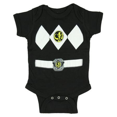 Power Ranger Bodysuit (Power Rangers Infant One Piece Costume Uniform Snapsuit)