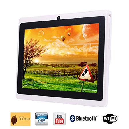 Tagital 7'' Quad Core Android 4.4 KitKat Tablet PC, HD Screen 1024x600, 8GB, Bluetooth, Dual Camera, Netflix, Skype, 3D Game (Best Tablet For Watching Netflix)