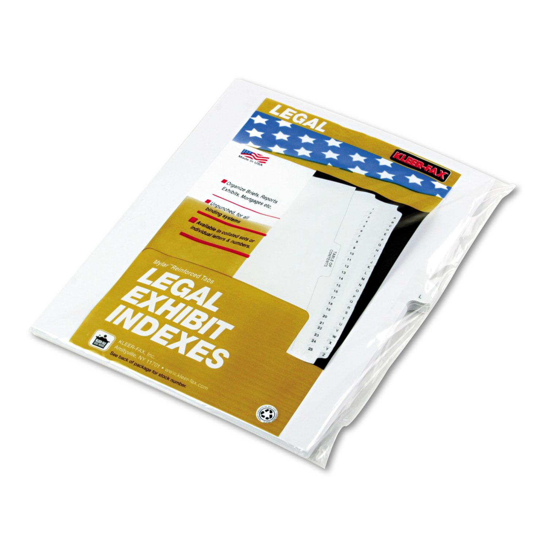 "90000 Series Alpha Side Tab Legal Index Divider, Preprinted ""L\ by Kleer-Fax"
