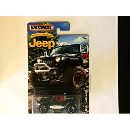 JEEP ANNIVERSARY EDITION BLACK JEEP HURRICANE, 1:64 scale die cast By