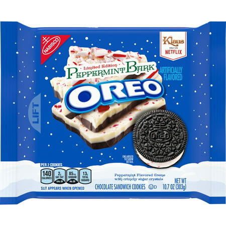 Nabisco Oreo Peppermint Bark Chocolate Sandwich Cookies, 10.7 Oz.