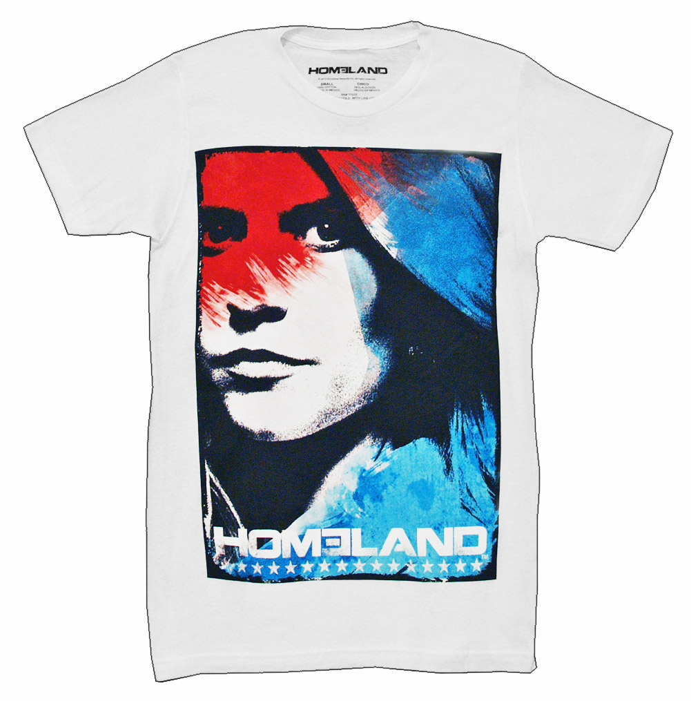 Homeland Carrie Stars And Stripes TV Show Adult T-Shirt Tee
