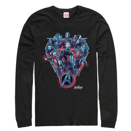 - Marvel Men's Avengers: Infinity War Armor Long Sleeve T-Shirt