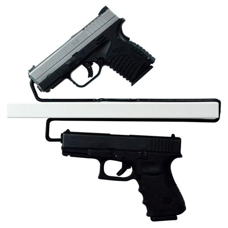 Universal Gun Over / Under Shelf Pistol Hangers, Set of