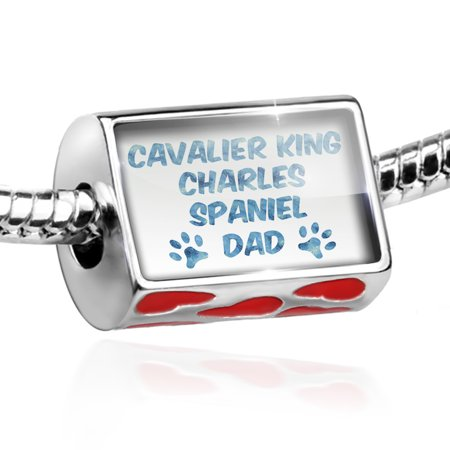 Bead Dog & Cat Dad Cavalier King Charles Spaniel Charm Fits All European