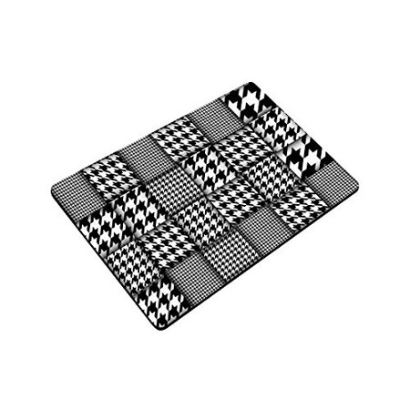 YUSDECOR Black White Houndstooth Patchwork Style Doormat Rug Home Decor Floor Mat Bath Mat 23.6x15.7 inch - image 3 de 3