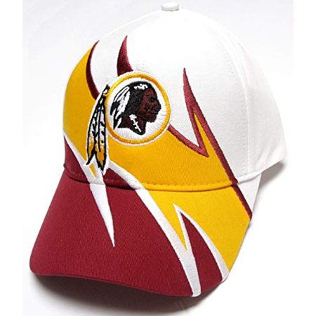 5f9d5758519 Reebok - Washington Redskins NFL Team Apparel White Shark Tooth Wave Hat  Cap Adult Men's Adjustable - Walmart.com