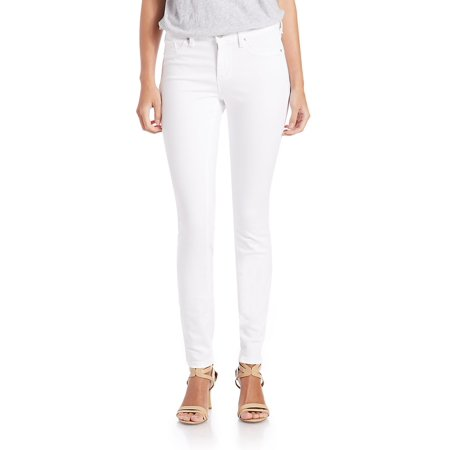Jessica Simpson NEW White Women's 32X28 Kiss Me Faux-Pocket Skinny - Clothes From The 70s