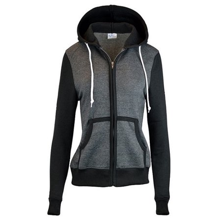 Women's Basic Zip Up Slim Fit Fleece Hoodie jacket Women Basic Hoodie Jacket