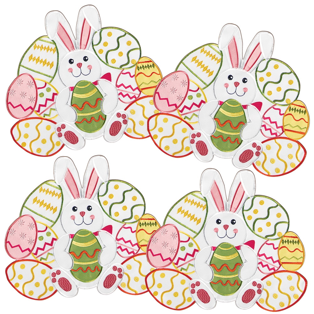 Easter Bunny & Eggs Table Linens, Placemats, Multi by Collections Etc