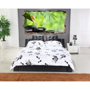Startonight 3D Mural Wall Art Photo Decor Zen Stones Amazing Dual View Surprise Wall Mural Wallpaper for Bedroom Feng Shui Wall Paper Art Gift Large 47.24 '' By 86.61 ''