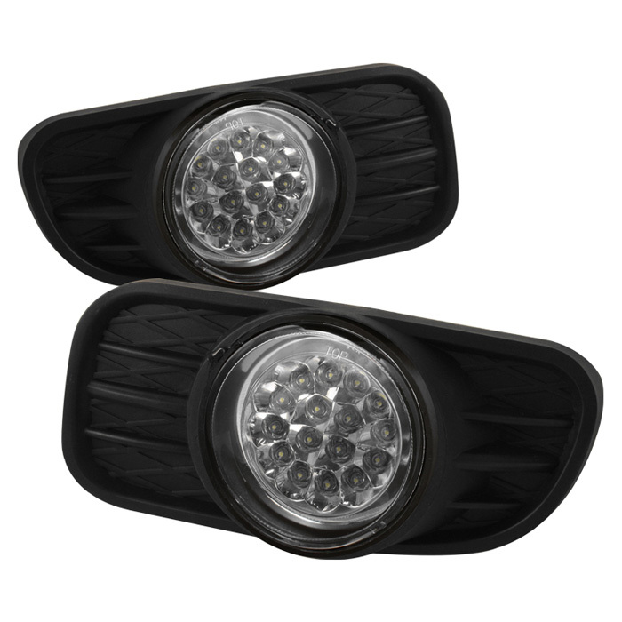 Spyder Jeep Grand Cherokee 99-04 (Does not fit Overland) LED Fog Lights w/Switch - Clear