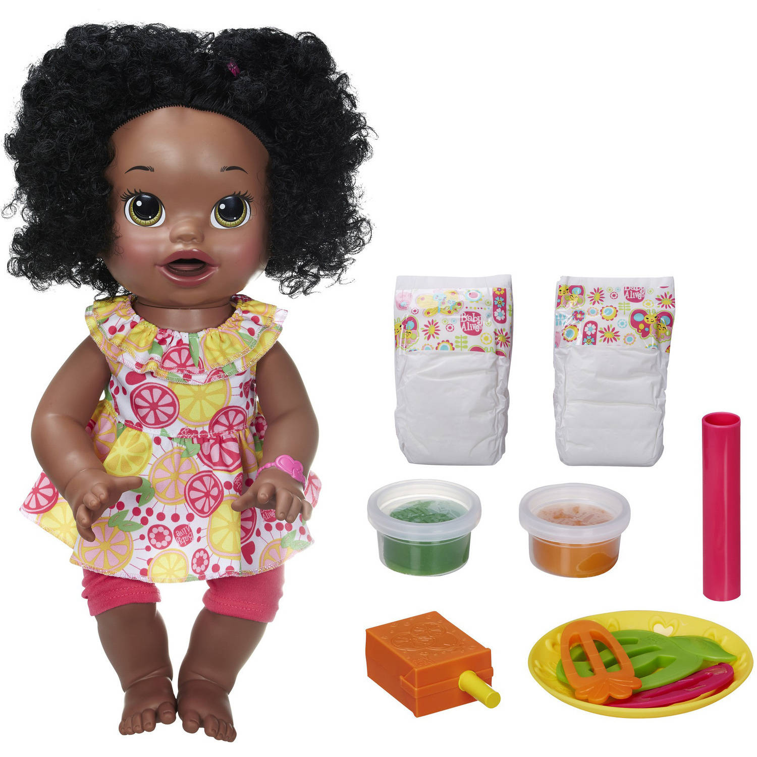 Baby Alive Super Snacks Snackin' Sara Doll, African American