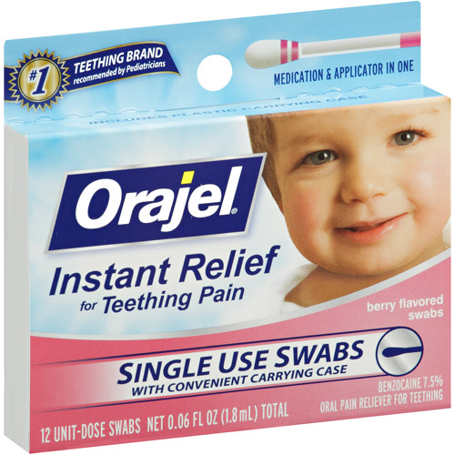 Baby Orajel Fast Teething Swabs Pain Relief, .06 fl oz