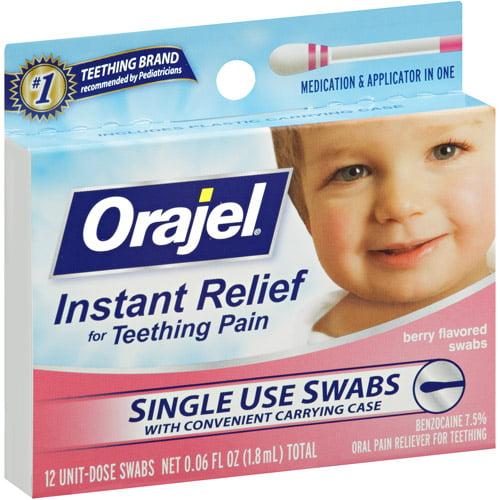 Baby Orajel Fast Teething Swabs Pain Relief, .06 fl oz