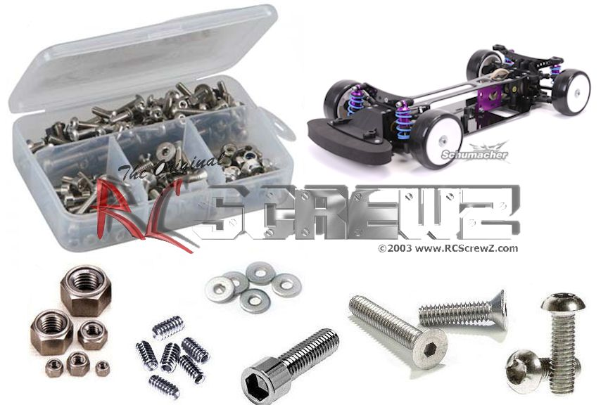 RC Screwz Stainless Steel Screw Kit for Schumacher Mi1 1 10 Onroad #sch024 by RCScrewZ
