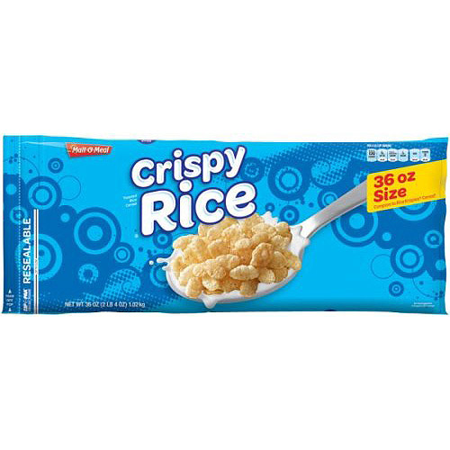 Malt-O-Meal Crispy Rice Cereal, 36 Oz
