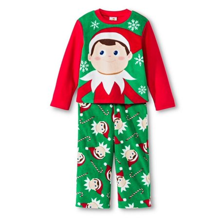 The Elf On The Shelf Boys 2 Piece Christmas Fleece Sleepwear Pajama Set