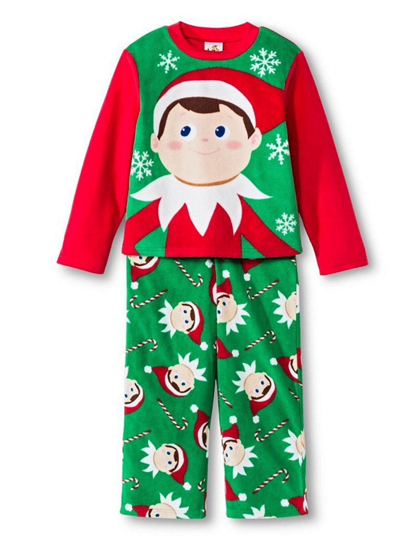 The Elf on the Shelf Boys 2-Piece Christmas Fleece Sleepwear Pajama Set XS