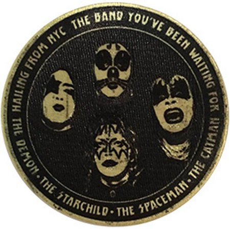 Kiss Hailing From NYC, - Sew Iron on, Embroidered Original Artwork - Patch -  3.5