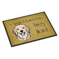 Golden Retriever Spoiled Dog Lives Here Door Mat