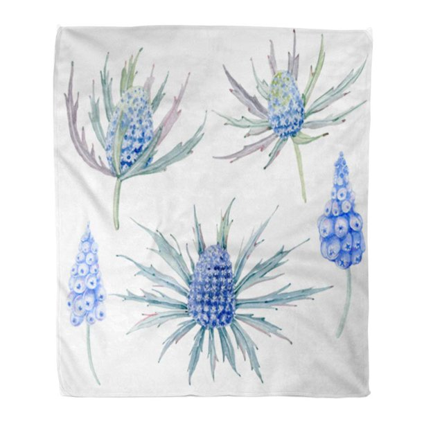 Ashleigh Throw Blanket Warm Cozy Print Flannel Handpainted Watercolor Flowers In Vintage It Birthday And Mothers Day Botanical Comfortable Soft For Bed Sofa And Couch 58x80 Inches Walmart Com Walmart Com