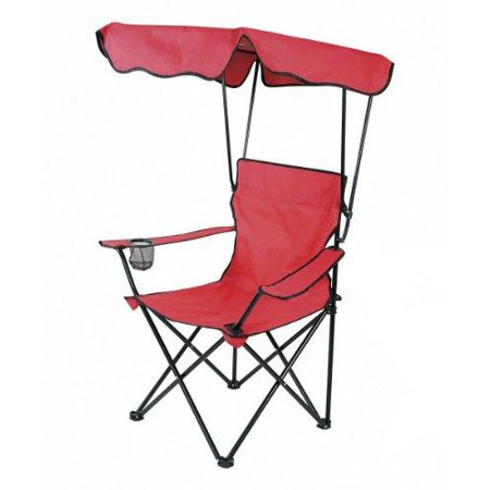 deluxe folding canopy chair