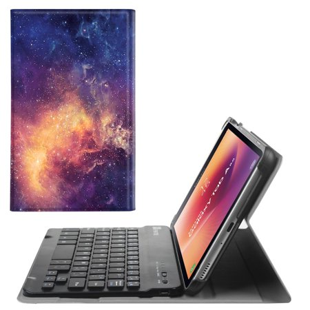 For Samsung Galaxy Tab A 8.0 2017 Keyboard Case T380 / T385, Slim Cover with Detachable Bluetooth Keyboard,